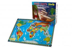 Карта-пазл «Мапа світу» фото 1