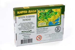 Карта-пазл «Флора и фауна Украины» фото 4