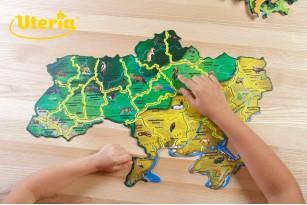 Карта-пазл «Флора и фауна Украины» фото 11