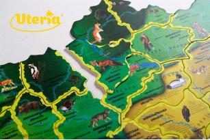 Карта-пазл «Флора и фауна Украины» фото 12