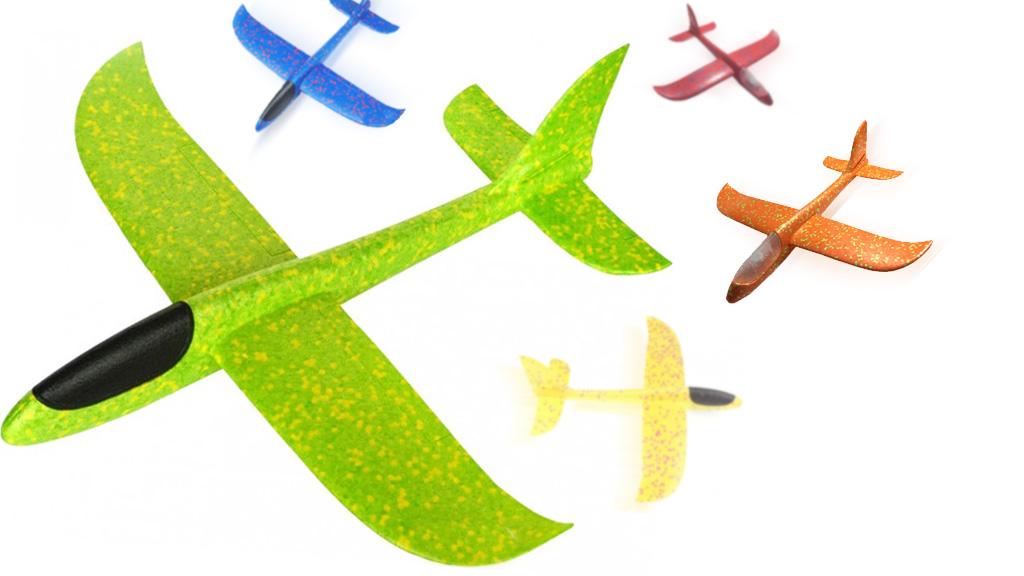 Метальний планер-літак з пінопласту