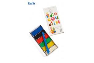 Пластилін дитячий «Gearsy Art», набір із 6 кольорів фото 1