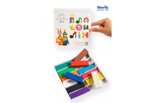 Пластилін дитячий «GEARSY ART», набір із 12 кольорів фото 1