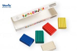 Пластилін дитячий «Gearsy Art», набір із 5 кольорів фото 4