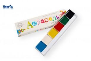 Краски акварельные медовые «Gearsy Art», набор из 6 цветов фото 4